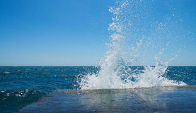 Предпосылка выплеска моря Стоковые Фото