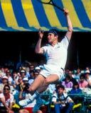 网球传奇约翰・麦肯罗 免版税库存图片