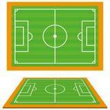 Σύνολο γηπέδων ποδοσφαίρου ποδοσφαίρου που απομονώνονται Στοκ φωτογραφία με δικαίωμα ελεύθερης χρήσης