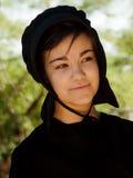 门诺派中的严紧派的女孩 免版税库存图片