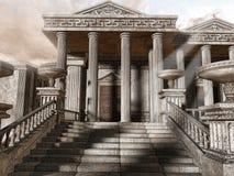 古老详细资料希腊寺庙 免版税库存照片