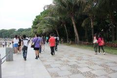 Πολλοί τουρίστες μέσα η Κίνα Στοκ Εικόνα