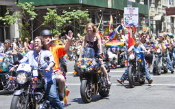 Ομοφυλοφιλική υπερηφάνεια Μάρτιος της Νέας Υόρκης Στοκ Εικόνα
