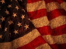 难看的东西美国旗子 库存照片