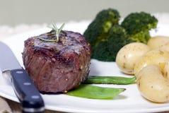 牛腰肉排顶层 免版税库存图片