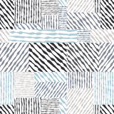 Вручите вычерченным линиям текстурам безшовную картину, ба вектора нарисованный рукой Стоковое Фото