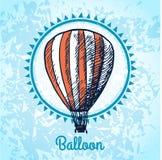 Σκίτσο αφισών μπαλονιών ζεστού αέρα Στοκ Εικόνες