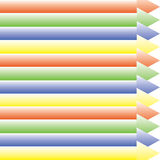 五颜六色的箭头指挥批转目的地 免版税库存照片