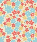Безшовная ретро текстура с цветками Бесконечная флористическая картина Безшовную винтажную предпосылку можно использовать для обо Стоковое фото RF