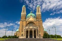 耶稣圣心-布鲁塞尔的大教堂 库存照片