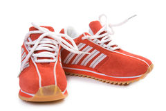 健身穿上鞋子培训 库存图片