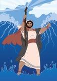 Моисей разделяя Красное Море Стоковое Изображение RF
