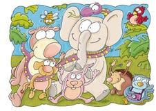 大象在森林里 库存照片