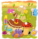 Черепаха дня рождения Стоковые Фотографии RF