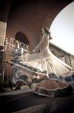 Νέο ευτυχές ινδικό ζεύγος που χορεύει και που είναι εύθυμο Στοκ φωτογραφίες με δικαίωμα ελεύθερης χρήσης