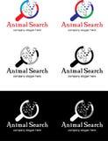 Животный логотип поиска Стоковое Фото