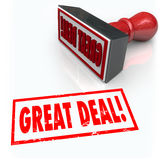 Η μεγάλη διαπραγμάτευσης έκπτωση συμφωνίας πώλησης γραμματοσήμων ειδική αγοράζει Στοκ εικόνες με δικαίωμα ελεύθερης χρήσης