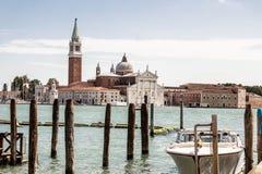 Док шлюпки в Венеции Стоковое фото RF