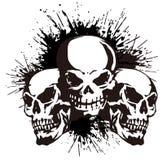 头骨和油漆, 免版税库存照片