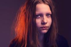 青少年恼怒的女孩 库存照片