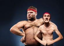 Αστείοι οικοδόμοι σωμάτων Στοκ φωτογραφίες με δικαίωμα ελεύθερης χρήσης