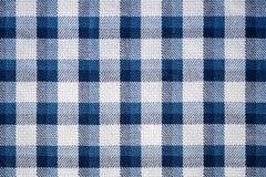 Голубой крупный план ткани холстинки Стоковое Изображение