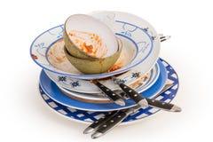 βρώμικα πιάτα Στοκ φωτογραφία με δικαίωμα ελεύθερης χρήσης