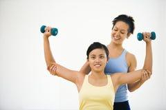 健身讲师妇女 免版税图库摄影