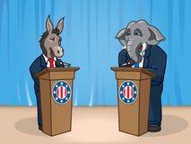 政治辩论 库存图片
