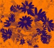 充满活力花束橙色紫色的漩涡 图库摄影