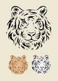 επικεφαλής τίγρη Στοκ Εικόνες