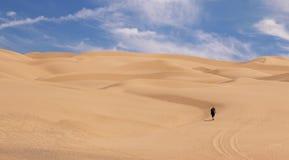 Пеший туризм песчанных дюн Стоковые Изображения RF