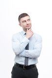 Младший красивый менеджер показывая процесс идеи Стоковая Фотография RF