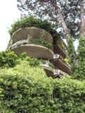 Πράσινα μπαλκόνια πολυκατοικιών στη Ρώμη Στοκ Φωτογραφία