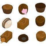 被分类的糖果巧克力 库存照片