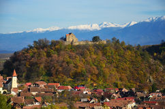 风景城堡特兰西瓦尼亚 免版税库存图片