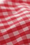 красный цвет пикника ткани детальный Стоковое фото RF