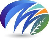 логос листьев стильный Стоковое Изображение