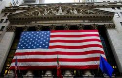 Нью-йоркская биржа, Уолл-Стрит Стоковое фото RF