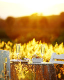 Закройте вверх по романтичному обедающему Стоковое Изображение