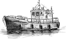 汽艇 免版税库存照片