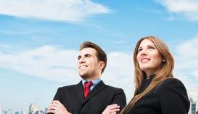 Бизнесмены смотря к будущему Стоковая Фотография RF