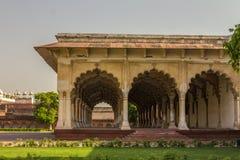 嘘玛哈尔在阿格拉堡印度 免版税库存图片