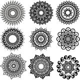 圆的装饰品样式 库存图片