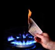 деньги ожога к Стоковое Изображение