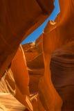 槽孔峡谷屋顶 免版税库存照片