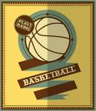 平的设计 篮球海报 库存图片
