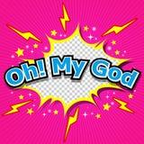 噢!我的上帝可笑的讲话泡影,动画片 免版税库存照片