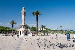 伊兹密尔历史钟楼 免版税库存图片