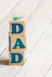 爸爸标志 免版税库存图片